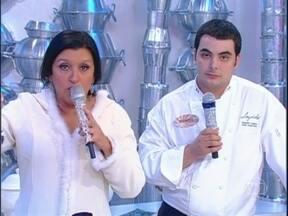 Com apenas 25 anos, Chef Ricardo Lapeyre prepara deliciosos cremes - Regina Casé mostra vídeo onde vive uma enóloga