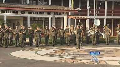 Exército prepara programação para comemorar o dia do soldado - 25 DE AGOSTO É O DIA DO SOLDADO. A PROGRAMAÇÃO É UMA HOMENAGEM DO EXÉRCITO AOS SOLDADOS. AQUI NO AMAPÁ A PROGRAMAÇÃO COMEÇA HOJE.