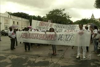 Servidores da Saúde realizam protesto em São Luís - Servidores da Secretaria Municipal de Saúde de São Luís realizaram ontem (19) um protesto para pedir melhores condições de trabalho.