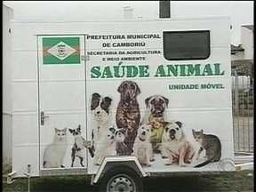 Castra móvel de Camboriú está parado há 1 ano - Castra móvel de Camboriú está parado há 1 ano; carro seria utilizado na castração de cães e gatos.