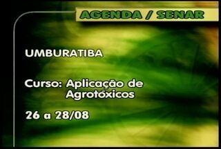 Curso de aplicação de agrotóxico é oferecido pelo Senar em Uburatiba - Veja outros cursos disponíveis no Norte e Leste de Minas Gerais.