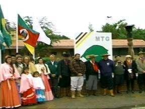 Inaugurado em Itaqui, RS, o monumento em homenagem ao Movimento Tradicionalista Gaúcho - Monumento faz uma referência ao gaúcho tradicionalista.