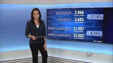 Ribeirão Preto tem queda na venda de veículos em agosto - Foram vendidos 2.866 automóveis no período, segundo Fenabrave.