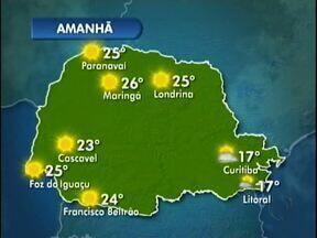 Sol brilha forte na região - Mas as temperaturas continuam amenas. Nesta quinta-feira (05) a máxima não passa dos 24º em Umuarama.