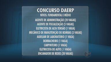Inscrições para concurso do Daerp são prorrogadas - Taxas de inscrição variam de R$ 40 a R$ 80.