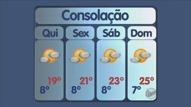 Confira a previsão do tempo para esta quinta-feira (5) no Sul de Minas - Confira a previsão do tempo para esta quinta-feira (5) no Sul de Minas