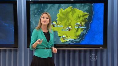 Sol aparece entre nuvens no fim de semana em regiões de Minas - Circulação oceânica traz muita umidade para o estado.