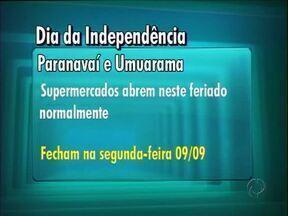 Supermercados abrem normalmente neste feriado de 7 de setembro - Um acordo entre patrões e empregados permitiu que os mercados possam abrir as portas neste sábado (07) em Paranavaí e Umuarama.