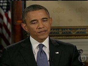 Presidente Obama admite que poderia não atacar Síria se ela entregasse armas químicas - Rússia fez a proposta diplomática e o regime sírio, teria que colocar todo o arsenal de armas químicas do país sob controle internacional e depois destruí-lo.