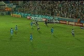 Magno Alves perde boa oportunidade de empatar - Atacante é lançado na área, mas chuta em cima do goleiro do Paysandu