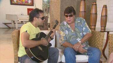 Cantor Sidney Magal faz show no Recife - Artista falou com a reportagem do NETV 1ª edição.