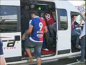 Paraná Clube joga fora de casa neste sábado - Torcedores saíram cedo de Curitiba para acompanhar o jogo do Tricolor contra o Figueirense, em Florianópolis.