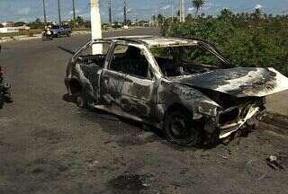 Acidente deixa uma mulher ferida na Rota de Fuga em Aracaju - Acidente uma mulher ferida na Rota de Fuga em Aracaju