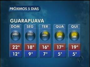 Primeiro dia da primavera terá muita chuva - o domingo será chuvoso em todo Paraná. As temperaturas não mudam muito.