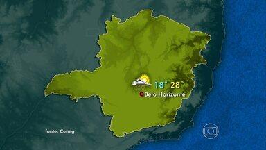 Frente fria continua atuando sobre Minas neste domingo - Tempo fica chuvoso e nublado em algumas regiões do estado.