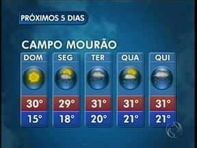O domingo deve ser ensolarado na região de Maringá - Em Campo Mourão deve chover na segunda-feira