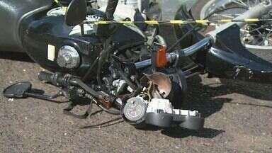 Acidente entre motos deixa pessoa gravemente ferida em Ribeirão Preto, SP - Vítima de 19 anos foi levada para o HC.