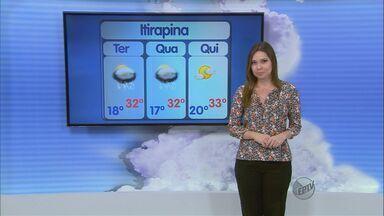 Confira a previsão do tempo para São Carlos e região nesta terça-feira (22) - Confira a previsão do tempo para São Carlos e região nesta terça-feira (22).
