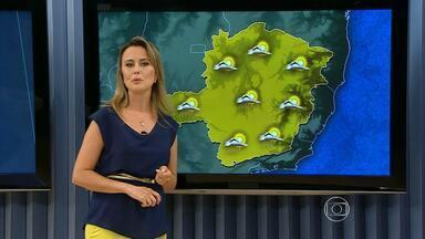 Altas temperaturas podem provocar pancadas de chuva no estado - Frente fria que passava por Minas Gerais foi embora. Excesso de umidade vai ajudar a provocar chuva.