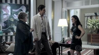 Valdirene não aceita ter que ficar longe de Márcia - Rinaldo incentiva Márcia a voltar para o apartamento de Ignácio