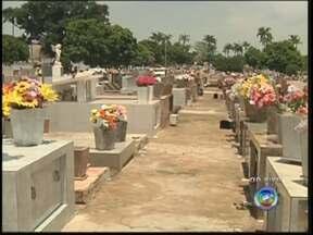 Prefeitura faz campanha para orientar vasos com plantas nos cemitérios de Rio Preto - O Dia de Finados se aproxima, e é comum levar vasos com plantas nos cemitérios. Mas é preciso ter cuidado, por causa do avanço da dengue. A prefeitura de Rio Preto prepara uma campanha de conscientização