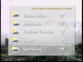 Frente fria e áreas de instabilidade diminuem temperaturas na região - Veja como ficam os termômetros em alguns municípios nesta segunda-feira (4).
