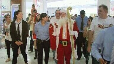 Papai Noel chega ao Shopping de Poços de Caldas - Papai Noel chega ao Shopping de Poços de Caldas