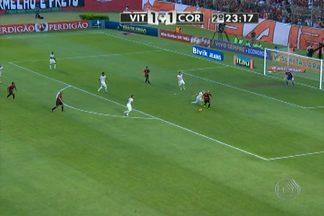 Vitória empata com Coritnhians e segue na luta por vaga na Libertadores - A diferença de pontos para o G-4 continua a mesma de antes da rodada.
