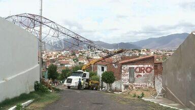 Chuva forte causa estragos em Sobral, no Ceará - Cidade teve chuva de 89 milímetros.
