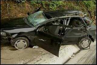 Uma pessoa fica ferida em um acidente na BR-135 - Acidente foi na serra de Bocaiuva
