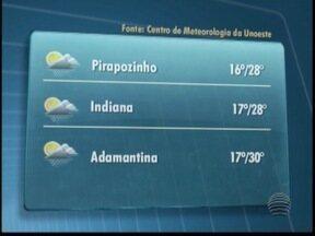 Prudente amanhece com céu parcialmente nublado - Confira a previsão do tempo para esta quinta-feira no Oeste Paulista.