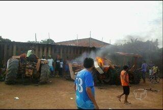 Após revolta, policiais santarenos reforçam segurança em Oriximiná - Manifestantes destruíram veículos de agentes de trânsito após abordagem que deixou um ferido em estado grave.