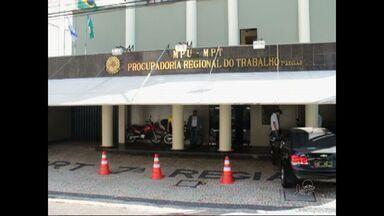 Sede do Ministério Público do Trabalho é assaltada, em Fortaleza - O vigilante que fazia a segurança da instituição foi rendido em frente à porta de entrada e teve a arma roubada.