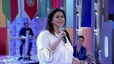 Fafá de Belém interpreta um fado no Encontro - Cantora interpreta canção típica de Portugal