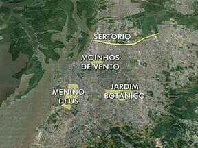 Mapa mostra as regiões mais atingidas pela chuva em Porto Alegre - Confira.