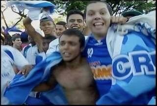 Montes-clarenses já comemoram o tricampeonato do Cruzeiro - Time celeste pode agarantir o título nesta quarta-feira contra o Vitória.