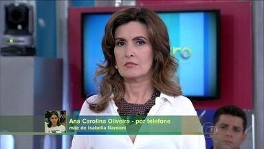 Ana Carolina Oliveira, mãe de Isabella Nardoni, fala do caso de Joaquim - 'É dolorido saber. Está passando um filme na minha cabeça', diz Ana