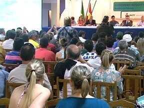 Moradores de Palhoça lotam audiência pública do contorno viário - Moradores de Palhoça lotam audiência pública do contorno viário
