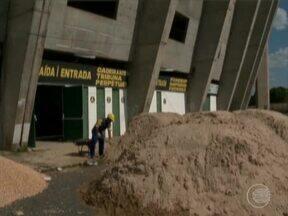 Obras e reformas na acessibilidade do Estádio Albertão foram iniciadas - Obras e reformas na acessibilidade do Estádio Albertão foram iniciadas