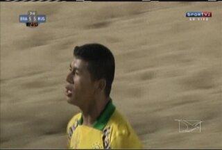 Datinha e Eudin se destacam no Intercontinental de futebol de areia - Maranhenses balançam as redes, mas a Rússia leva a melhor na partida