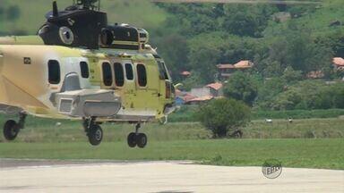 Novo helicóptero produzido na Helibrás, em Itajubá (MG), faz primeiro voo de teste - Novo helicóptero produzido na Helibrás, em Itajubá (MG), faz primeiro voo de teste