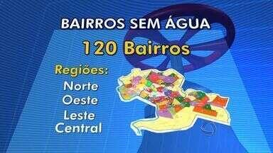 Quase a metade da população cuiabana enfrentará corte no abastecimento de água - Quarenta por cento dos moradores da capital deverão economizar água a partir desta sexta-feira (22) devido ao corte no abastecimento da cidade.
