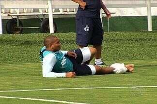 Walter faz tratamento para enfrentar o Santos - Com lesão no tornozelo, astro esmeraldino se esforça e deve jogar contra o Peixe, na última rodada do Campeonato Brasileiro.