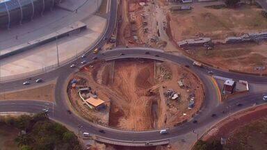 Veja o andamento das principais obras em torno da Arena Castelão - Confira o que avançou nas obras de infraestrutura e trânsito.