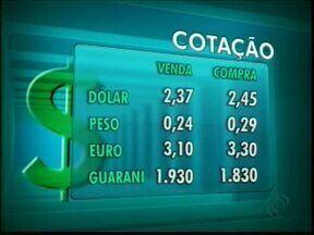 Confira a cotação das moedas nas casas de câmbio de Foz - O dólar vale R$ 2,37 na venda e R$ 2,45 na compra.