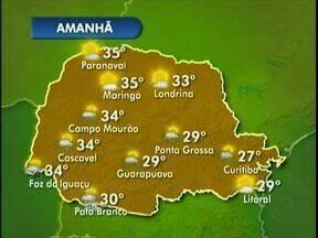 Previsão é de calor com pancadas de chuva para o fim de semana - Podem ocorrer pancadas de chuva na fronteira e no sudoeste.