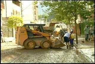 Tempo melhora em Nova Friburgo, Região Serrana do Rio - Cidade começa a voltar ao ritmo normal.Defesa Civil mantém atendimentos.