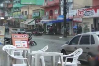 Chuvas causam muitos estragos em Itamaraju no extremo sul baiano - Já na região oeste choveu granizo.