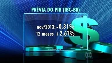 Economia teve ritmo de expansão mais lento no fim de 2013 - O IBC-BR, que é considerado uma prévia do PIB, caiu 0,31% em novembro, na comparação com o mês anterior. No acumulado de 12 meses, o índice registra um crescimento de 2,6%.