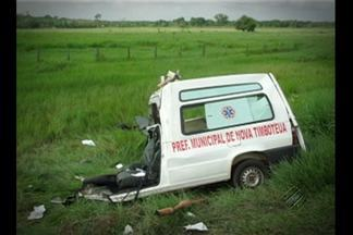 Acidente com ambulância deixa mortos na BR-316, no Pará - Colisão aconteceu no km 32 da rodovia, próximo à saída de Castanhal.